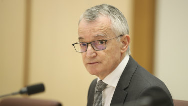 Australia Post chair Lucio Di Bartolomeo gave evidence at Senate estimates on Monday night.