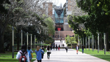University of New South Wales dropped by 11 places due to a fall in its research score.