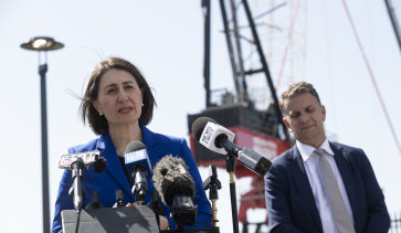 NSW Premier Gladys Berejiklian says the new M4-M5 will employ more than 6800 workers during the project.