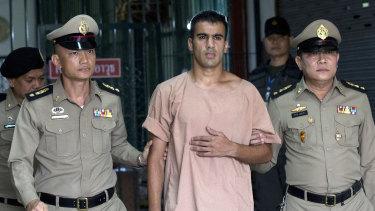 Hakeem al-Araibi leaves the criminal court in Bangkok earlier this month.