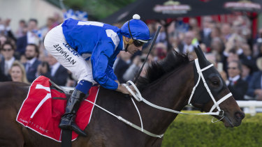 A mile too good: Winx winning last year's Colgate Optic White Stakes at Randwick.