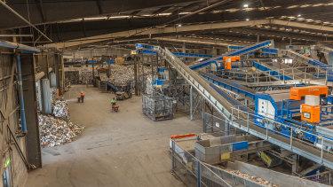 Inside SKM's Laverton North sorting centre after clean-up works began last week.