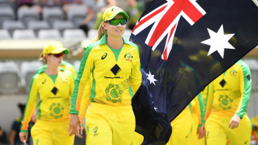 The Australian women's team wore  jerseys featuring the Walkabout Wickets artwork for a match against England earlier this year.