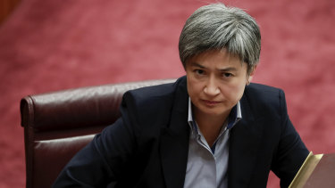 "Senator Penny Wong says the ""global community is still coming to terms with this new America""."