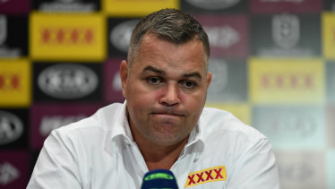 Anthony Seibold sounded like a beaten man after the loss to the Titans as pressure mounts on his job.