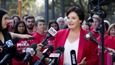 Jodi McKay announces she will be contesting the NSW Labor Party leadership in May.