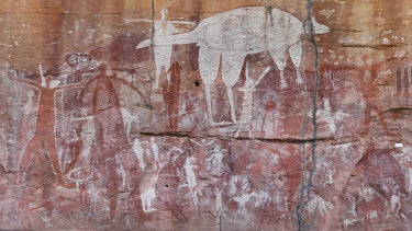 Part of an image of the Magnificent Gallery rock art site in Cape York, Queensland, created using photogrammetry.