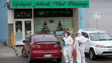 The shooting happened outside Springvale Authentic Thai Massage.