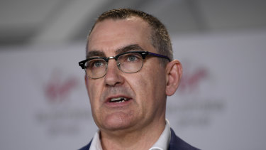 Virgin Australia CEO Paul Scurrah announces 3000 job cuts as part of a radical cost-reduction strategy for the airline.