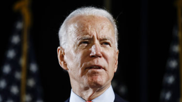 US Democratic challenger Joe Biden leads President Donald Trump by 8 percentage points among registered voters as the death toll from the coronavirus pandemic mounts.