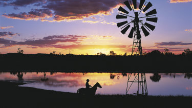 Longreach, a picturesque image of the Queensland outback.