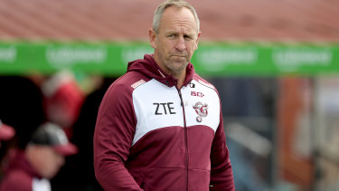 Favourite: John Cartwright remains in the box seat to coach Manly.