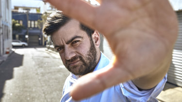 "Sam Dastyari, host of Disgrace, one of the TV pilots aired during ""pilot week"""