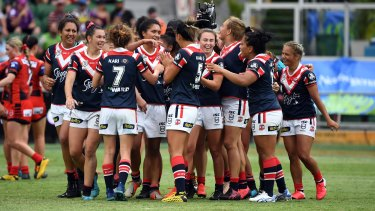 The Roosters, here during this season's 9s tournament, won't be part of the next NRLW season.