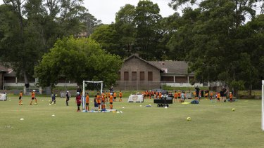 The building in the background is set to become the clubrooms for the Balmain and District Football Club.