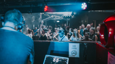 The dance floor at Sub Rosa in Brisbane.