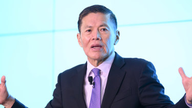 "Optus CEO Allen Lew says the 5G is ""the way of the future."""