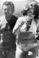 Bob Hawke with Glenda Bowden at the ALP conference in Terrigal in 1975.