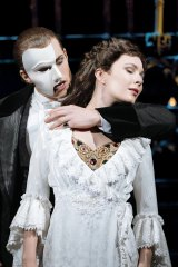 Josh Piterman and Kelly Mathieson in The Phantom of the Opera in the West End 2019.