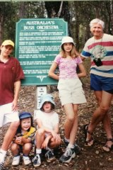 Sophie, second from the right, with her dad, right, and siblings 19 years ago.