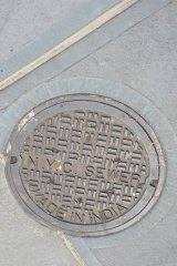 When Columbus discovered America, he thought he landed in India. The inscription on this man-hole cover proves that he was right.