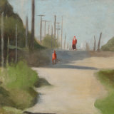 Clarice Beckett, Walking home,c.1931