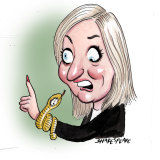 Christine Holgate and her fancy watch.