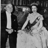 The then Princess Elizabeth and president Truman in 1951.