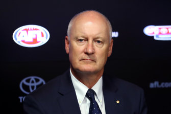 Richard Goyder says it's the AFL's role to ensure there are 18 clubs and a competition later this year.