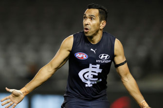 Eddie Betts played his first game back for Carlton last Saturday.