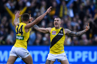 Big-game player: Dustin Martin won the Norm Smith Medal in 2017.