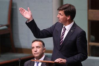 Angus Taylor  delivers his maiden speech in 2013.