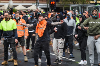 Tempers reached breaking point on Monday, the first of days of protests.