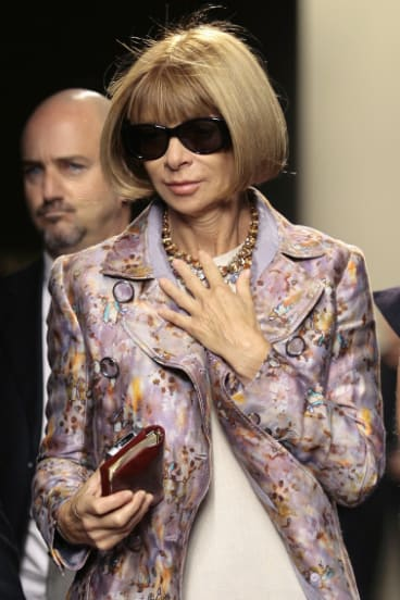 Anna Wintour is known for walking around with her wallet and phone.