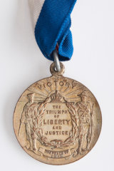 To mark the end of World War 1, every child was given a medal. They were promised ginger beer too, but the sugar ran out.