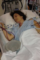 Kylie Marino, recovering in intensive care at a Perth Hospital after a major surgery.