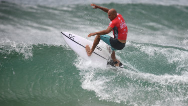 Kelly Slater expects to be 'dodging bullets' when the big waves hit Bells Beach on Friday.