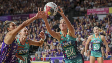 Emily Mannix starred in defence for the Vixens.
