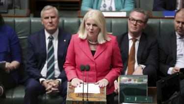 Industry Minister Karen Andrews is the first federal cabinet minister from Queensland.