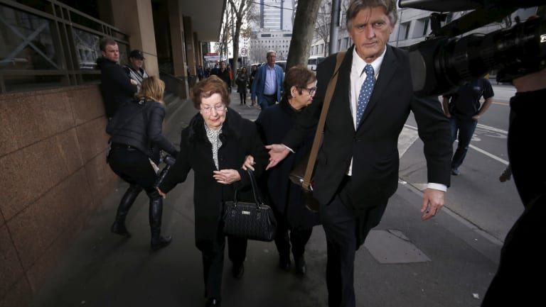 Antoinetta Fasciale in front of the Melbourne Magistrates Court on Friday morning.