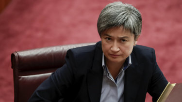 """Senator Penny Wong says the """"global community is still coming to terms with this new America""""."""