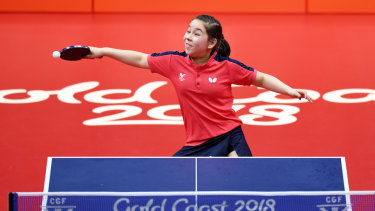 Wales' 11-year-old table tennis player Anna Hursey.