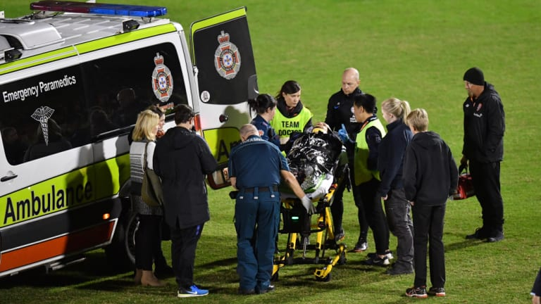 There was a lengthy delay as an ambulance was called to the pitch.