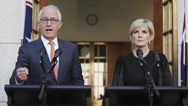 Malcolm Turnbull and Julie Bishop on Tuesday.