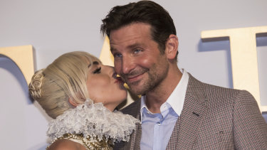 Lady Gaga and Bradley Cooper at the premiere of A Star Is Born in London in September.