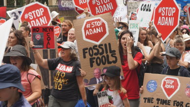 March for Our Future to stop Adani, held in Brisbane.