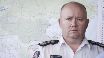 Rural Fire Service boss Shane Fitzsimmons, the man tasked with defending NSW