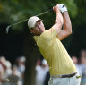 Scott overcomes rough start to remain in the hunt in wide-open PGA Championship