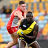 Tigers down Swans in second lowest-scoring game of AFL era
