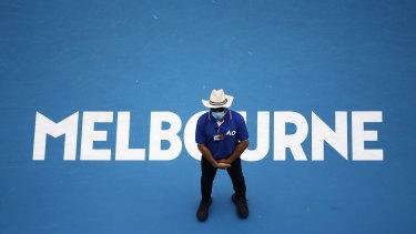 Australian Open security guard.
